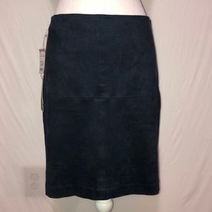 Artisan NY Faux Suede Navy Blue Skirt size 4